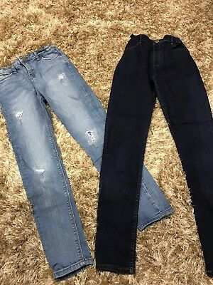 2 Girls River Island Jeans. Age 11 & 12 Years. Excellent Condition