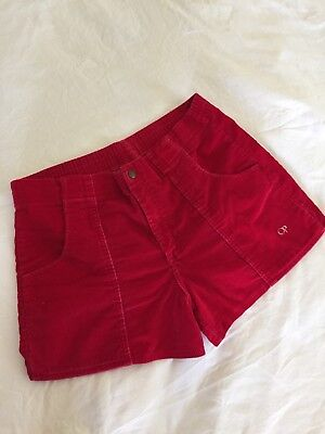 Vintage OP Corduroy Shorts 80s Red Retro Surf