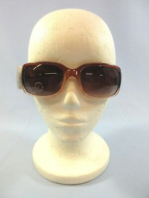 Juicy Couture Pink Brown Square Sunglasses Gradient Frames Plastic Tinted NEW