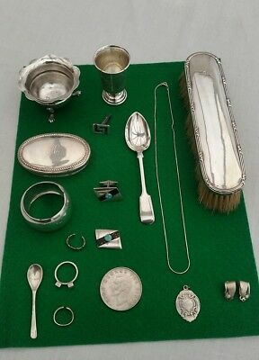 ALL Hallmarked Solid Silver Items and silver jewellery,,,,Job Lot ,,trophy,spoon