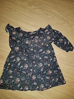 Zara Baby Girl Hedgehog Blouse 9-12 Month Great Condition