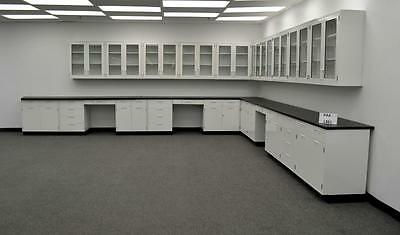 34' Hamilton Laboratory Base Bench top w/ 29' Wall Cabinets & Tops - PA4-L361 -