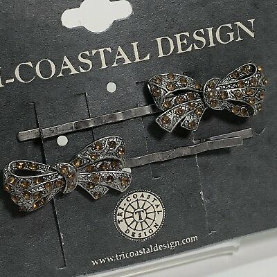 Beautiful New Tri-Costal Design Hair Pin Barrettes Fashion Jewelry Silver Tone