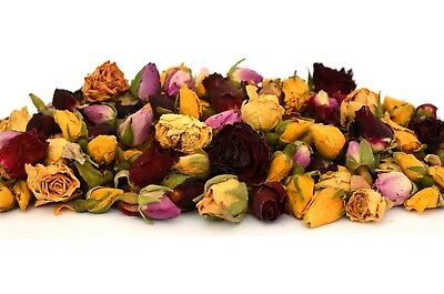 Mixed Rose Buds, Dried Flowers, Craft, Tea Potpourri Soap Candle Decor 5g - 250g