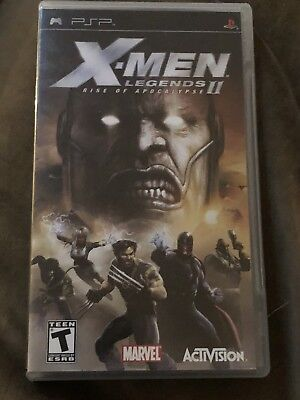 X-Men Legends II: Rise of Apocalypse (Sony PSP, 2005) Complete Free Shipping