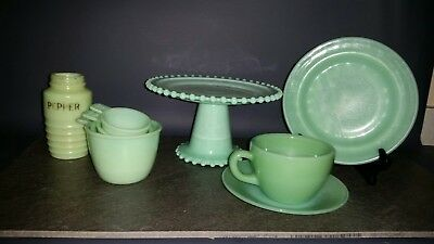 Lot! Fire King Anchor Hocking Jadeite Pieces & More