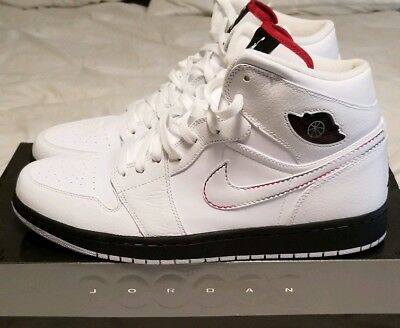save off 21dd6 cba4c Nike air Jordan Retro 1 White Black red Green Size 12 (136065 107)