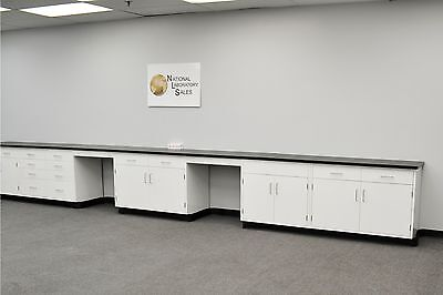 24′ Fisher  Base Laboratory Furniture Cabinets Case Work Benches Tops lab Ind.--