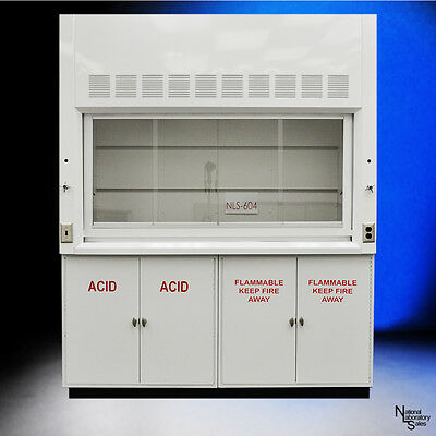 6' Chemical Laboratory Fume Hood w/ Flammable Acid Storage Cabinets.. QUICK SHIP