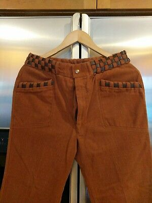 Vintage Mens Bell Bottoms Plaid 28/30X 34
