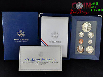 1993 U.s. Prestige 7-Coin Bill Of Rights Commemorative Coin Set #6057