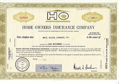 Home Owners Insurance company, 1969