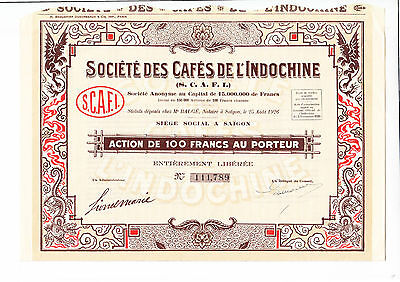 Soc. Des Cafes De L' Indochine, Saigon 1926