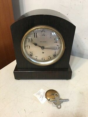 Antique Seth Thomas Faux Wood Grain Adamantine Mantle Clock