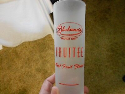 """Blackman's FRUITEE - Frosted Glass with Syrup Line at Bottom - """"NICE"""""""