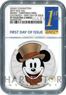 Disney Mickey Through The Ages - Christmas Carol - Ngc Pf70 First Day Of Issue