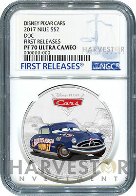 2017 Disney Pixar Cars: Doc Hudson - Ngc Pf70 First Releases With Ogp - Third