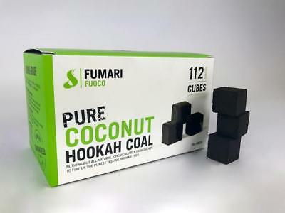 FUMARI FUOCO PURE COCONUT CHARCOAL SUPPLIES FOR HOOKAHS–112pc
