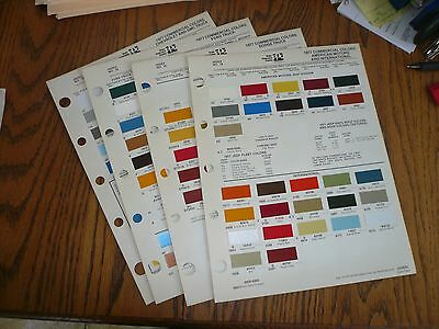 1977 Ford Chevy GMC Dodge AMC Jeep Intern'l Commercial Ditzler PPG Paint Chips