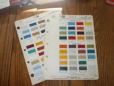 1969 Chevrolet & GMC Dodge Ford Intern'l Commercial Ditzler PPG Paint Chips
