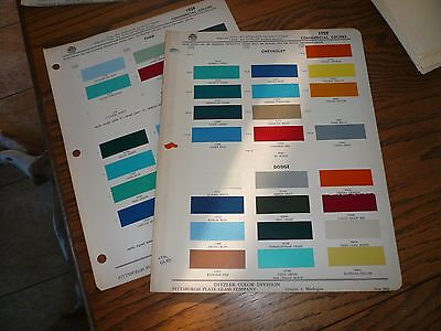1959 Chevy Dodge Ford GMC Commercial Ditzler PPG Paint Chips