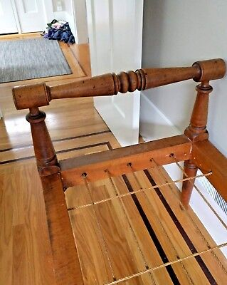 1700's - 1800's AMERICAN TURNED MAPLE Rope Bed Tiger and Birdseye UNIQUE