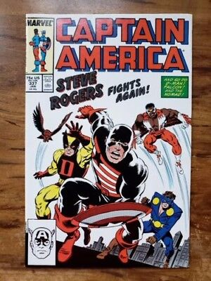Captain America #337, Marvel, 1st appearance of Steve Rogers as 'The Captain'