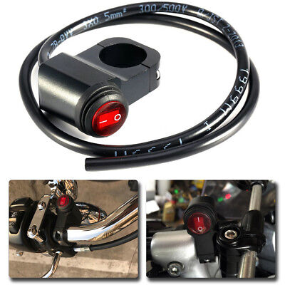 1x 12V Universal Aluminum Quad ATV Pit Bike Handlebar LED Switch Rocker Button