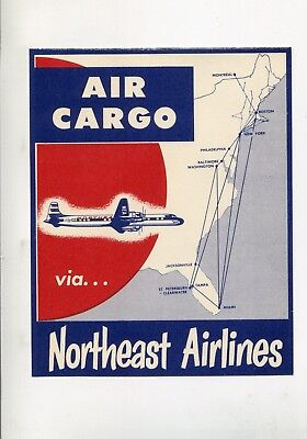 circa 1955 Details about  /Route of the Northliners ~NORTH CENTRAL AIRLINES~ Old Luggage Label