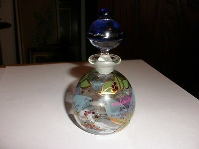 Vintage Glass Perfume Bottle Made in Germany Fabriqueen Allemagne Artist Signed