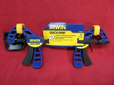 "Irwin Quick-Grip 2 Piece 6"" Light Duty Bar Clamp  530062"