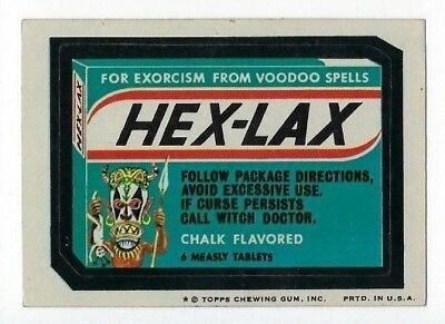 1974 Topps Wacky Packages 8th Series 8 HEX-LAX ex+