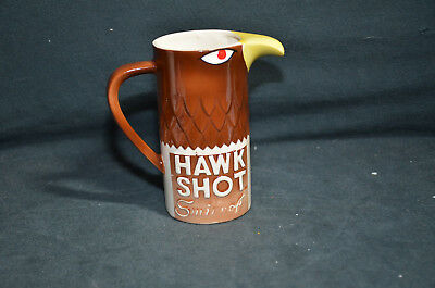 Vintage Porcelain Smirnoff Hawk Shot Water Pitcher