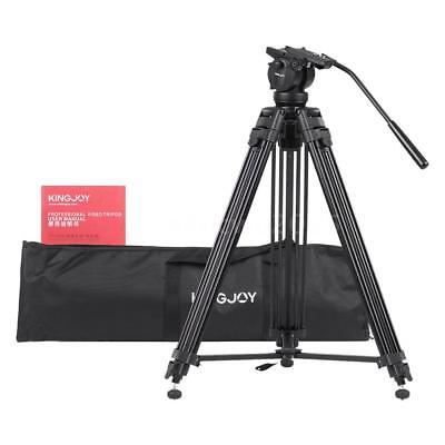 KINGJOY Professional Video Tripod Stand 360°Panoramic Fluid Head for DSLR Camera