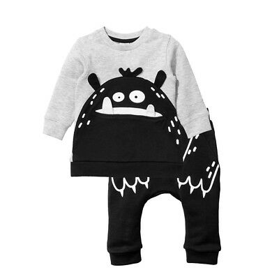 US Toddler Baby Boy Girl Clothes Sweatshirt Tops Pants Infant Outfits Tracksuits