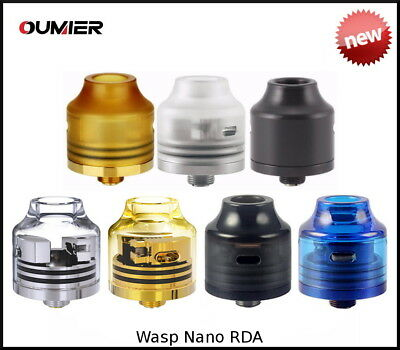 Oumier Wasp Nano RDA -  5 styles - 100% Authentic -  (UK Stock)