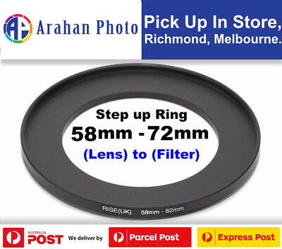 Step Up Ring 58-72mm  58mm Lens to 72mm filter