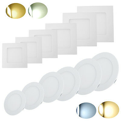 10-20pack 3-24W LED Recessed Ceiling Panel Down Light Lamp Kitchen Ultra Thin US