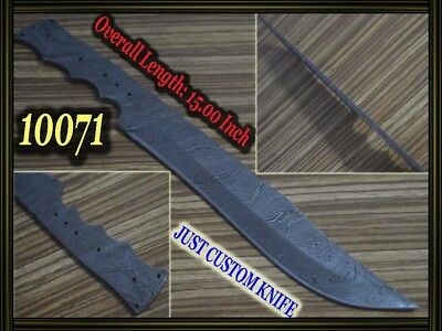 "15"" Custom made Rare Damascus hunting blank blade knife making suppliers 10071"