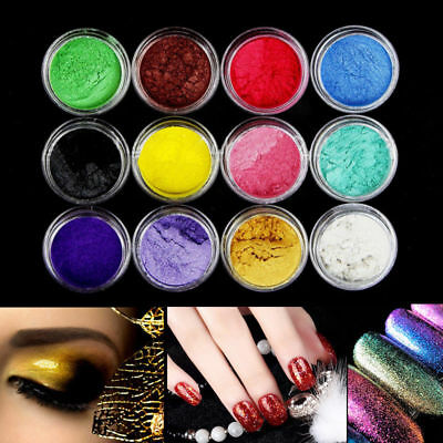 12 Color/Sets Mica Pigment Powder Eye Shadow For Soap Cosmetics Colorant Dye