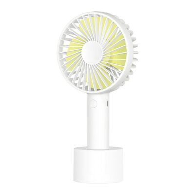 3 Speeds USB Caynel Portable Mini Handheld Electric Fan Rechargeable Pearl White