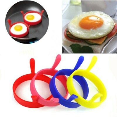 Silicone Round Egg Ring Omelette Fry Egg Mold Pancake Ring Nonstick Kitchen Tool