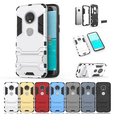 Shockproof Iron Man Armor Shell Kick Stand Case Cover for Motorola Moto Phones
