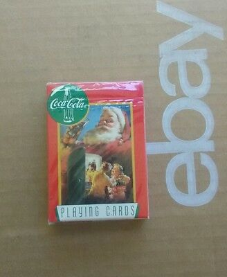 Coca-Cola Santa Claus Playing Cards 1995 Factory Sealed In Plastic! Quick'n'Free