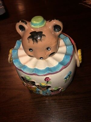Vintage 1950s  Japan 3 BEARS Figural Ceramic Cookie Jar HTF