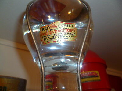 Decal/ Sticker ONLY for Vintage Rare Clear Ball Fire Extinguisher Grenade