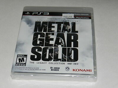 Metal Gear Solid The Legacy Collection Playstation 3 PS3 Video Game New Sealed