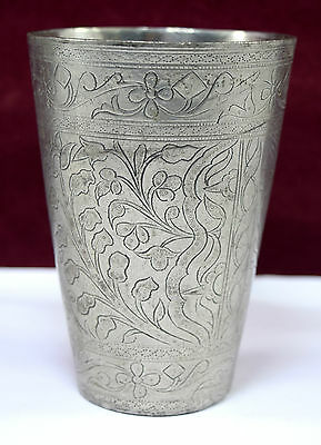 Authentic Vintage Old Indian Brass Lassi Cup/ Glass Excellent Decorative.G66-194