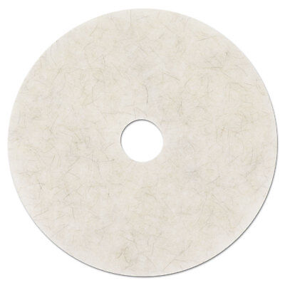 "Ultra High-Speed Natural Blend Floor Burnishing Pads 3300, 19"" Dia., White, 5/CT"