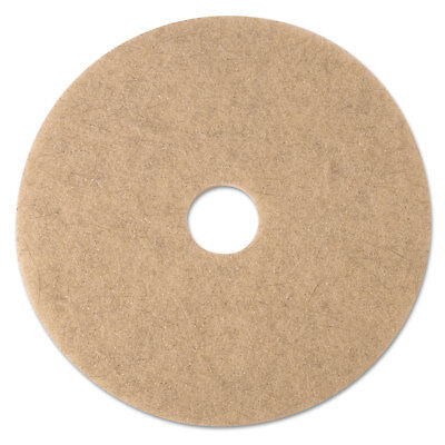 "Ultra High-Speed Natural Blend Floor Burnishing Pads 3500, 17"" Dia., Tan, 5/CT"